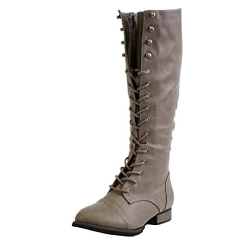 tall lace up boots for women