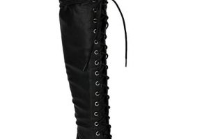 woman black knee high boots
